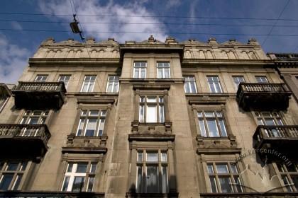 Вул. Саксаганського, 3. Фрагмент фасаду в рівні ІІ-V-го поверхів