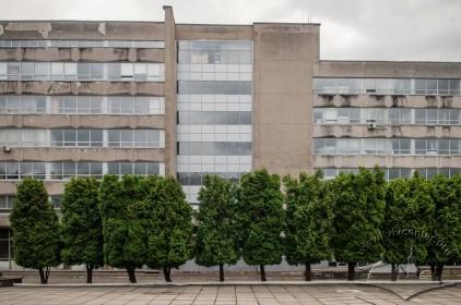 Vul. Karpinskoho, 6. Academic building #2. A part of its rear facade