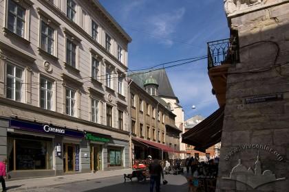 Vul. Halytska, 4. View from the crossing of Halytska and Staroyevreiska streets