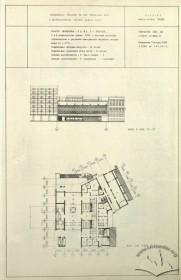головний фасад, план першого поверху