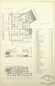 План підвалу, бічний фасад та розріз