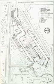 Siteplan of the newer part of the Lviv Polytechnic's campus