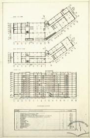 Вул. Бандери, 28а – плани 1-го та типового поверхів, поздовжній розріз
