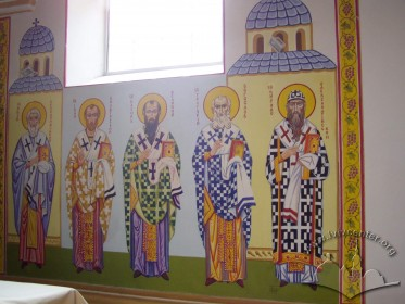 Vul. Dovbusha, 24. Saint fathers of the church on the altar's mural
