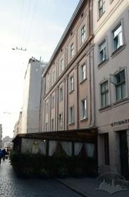 Вул. Краківська, 1. Фасад з боку вул. Краківської, вид у напрямку пл. Ринок