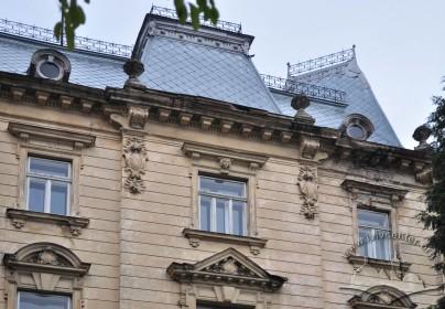 Vul. Sichovykh Striltsiv, 16. Detail of the southwestern facade