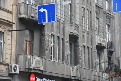 Вул. Словацького, 4. Фрагмент головного фасаду