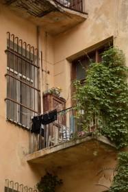 Вул. Листопадового чину, 3. Один з балконів на тильному фасаді