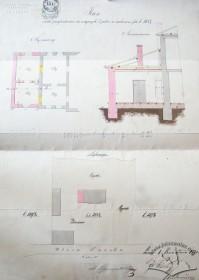 Проект прибудови до вілли приміщень з півночі. 1870 р. Проект Юзефа Відня