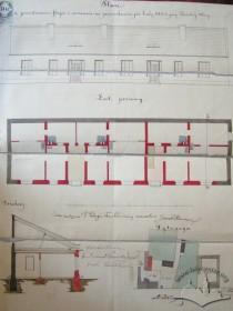 Проект перебудови споруди стайні і возівні на житло. 1870 р.
