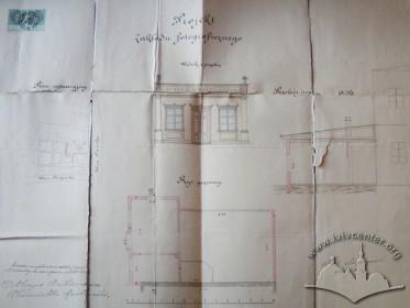Проект споруди фотоательє. 1879 р.