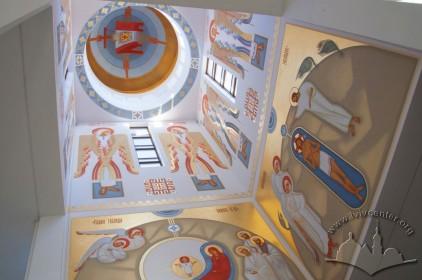 Prosp. Chervonoyi Kalyny, 70. Interior murals in one of the domes