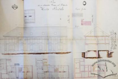 Нереалізований проект житлового будинку, розроблений Вінцентом Равським-старшим у 1845 р.