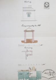 Проект прибудови помешкання сторожа (1867 р.)