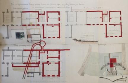 Проект добудови другої половини будинку (1880 р.).