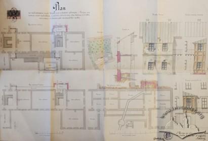 Проект прибудови трьох веранд і туалету (1891 р.)