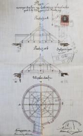 Проект нового даху для льодівні, розроблений Генриком Сальвером (1893 р.)
