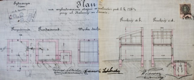Проект стайні, розроблений Генриком Сальвером (1893 р.)