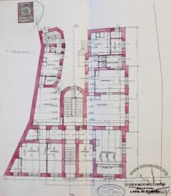 План першого поверху (проект 1909 р.)