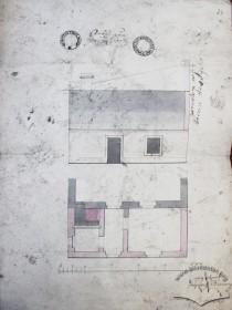 Проект прибудови приміщень до існуючого одноповерхового будинку на місці сучасного, виконаний для власника Матея Білецького, затверджений у травні 1828 р.