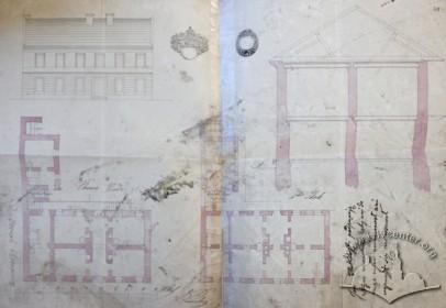 Проект двоповерхової кам'яниці на місці сучасного будинку на вул. Поповича, 17 з 1845 р.