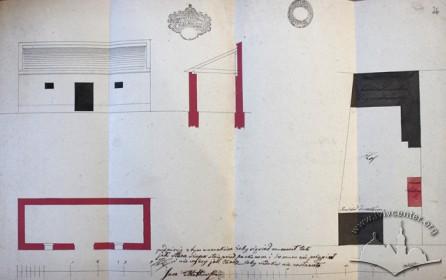 Проект мурованої шопи з 1849 р.