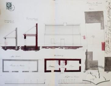 Проект житлового будиночка на місці шопи (1861 р.)