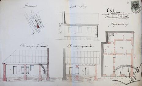 Проект Адольфа Ґроховальського щодо перебудови існуючого будинку у 1879 р.