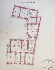 Оригінальний план першого поверху (проект 1909 р.)