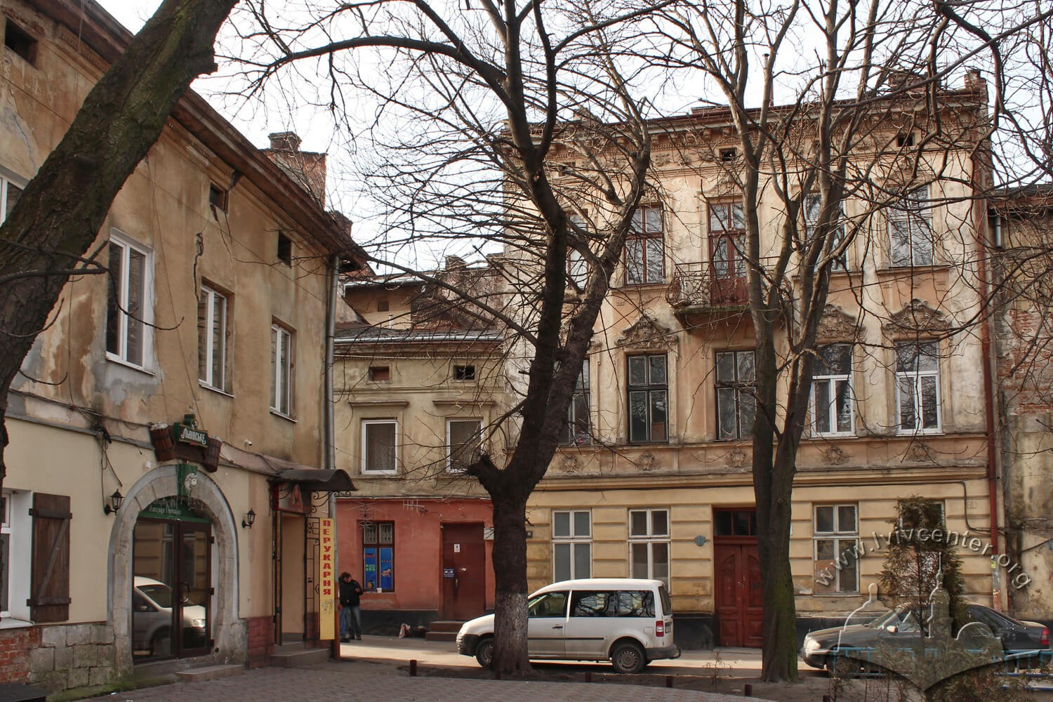 Buildings on former ul. Gęsia (Goose str., today vul. Staromiska), viewed from the east/Photo courtesy of Olha Zarechnyuk, 2016