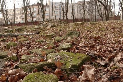 Залишки мацев – надгробних каменів зі зруйнованого цвинтаря