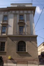Вул. Словацького, 1. Бічний фасад, вигляд з вул. Коперника