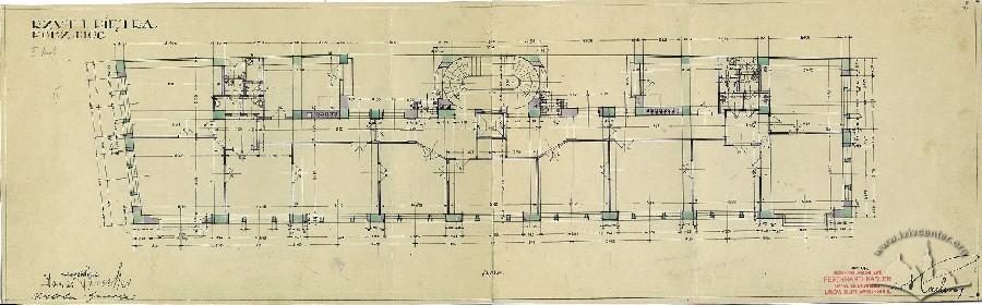 План 2-го поверху з оригінального проекту будинку 1928 р.