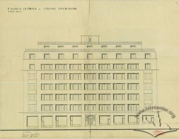 Головний фасад з оригінального проекту будинку 1928 р.