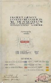 Ситуаційна схема з оригінального проекту будинку 1928 р.