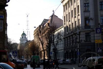 Vul. Lystopadovoho Chynu, 6. The building among the adjoining housing