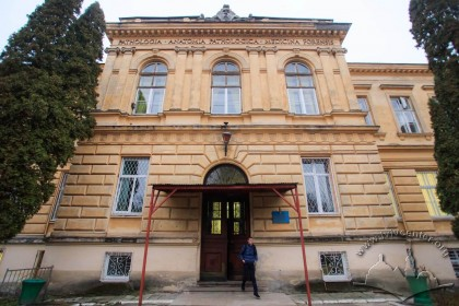 Vul. Pekarska, 52. Central avant-corps of the Pathology and Forensic Science Building