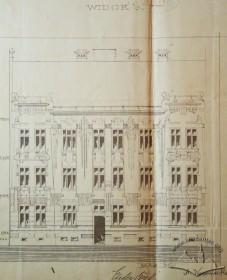 Первісний проект головного фасаду