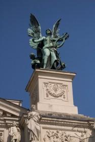 Prosp. Svobody, 28. The Music statue by sculptor Petro Viytovych