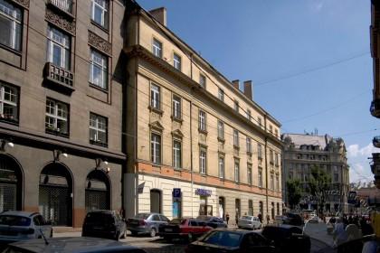Просп. Свободи, 1-3. Фасад будинку з боку вул. Коперника