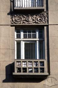 Вул. Коперника, 4. Балкон 3-го поверху на головному фасаді
