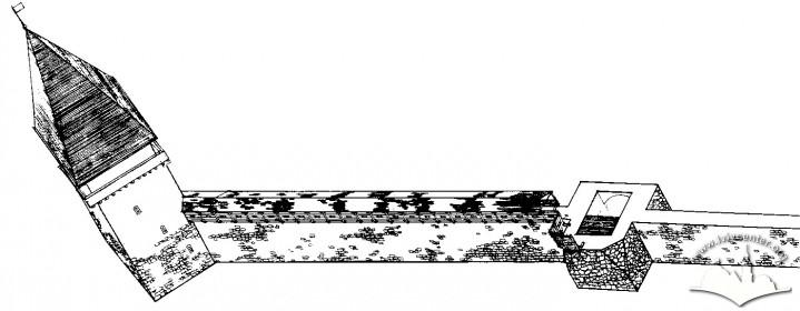 Реконструкція вигляду арсеналу на перший етап будівництва