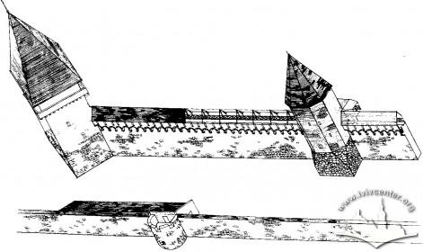 Реконструкція вигляду арсеналу на другий етап будівництва