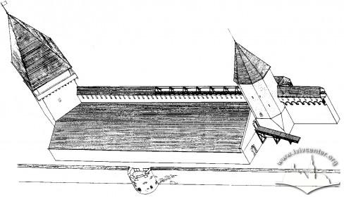 Реконструкція вигляду арсеналу на третій етап будівництва