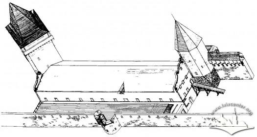 Реконструкція вигляду арсеналу на четвертий етап будівництва