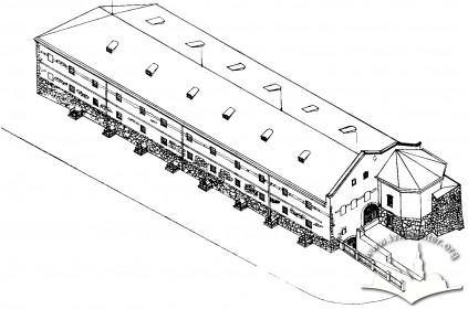 Реконструкція вигляду арсеналу на шостий етап будівництва