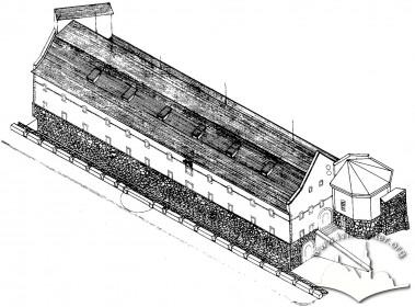 Реконструкція вигляду арсеналу на сьомий етап будівництва