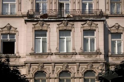 Prosp. Shevchenka, 26. The principal facade, 3rd floor
