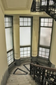 Vul. Halytska, 21. Staircase's window