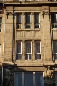Vul. Halytska, 21. 2nd and 3rd floor windows of the southern facade
